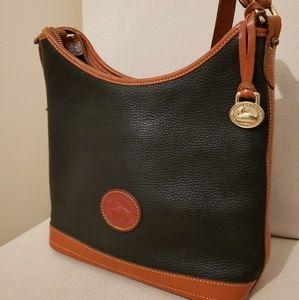 Black Leather Dooney & Bourke Shoulder Bag